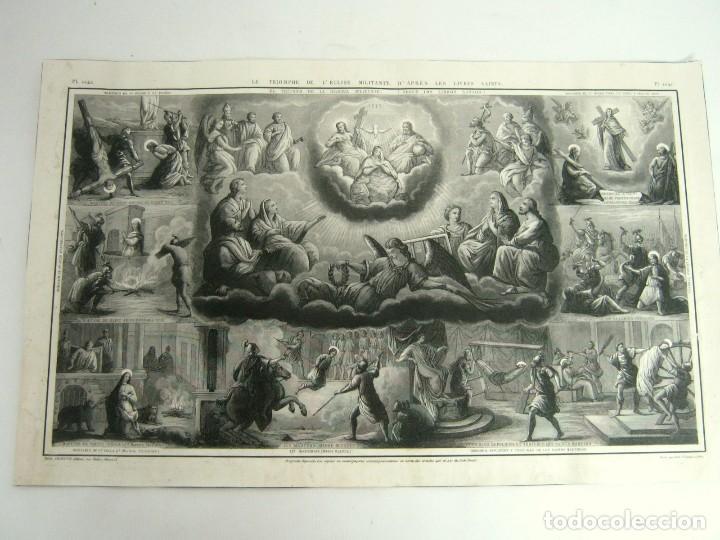 S.XIX - MARTIROLOGO GRABADO DE SANTOS MARTIRES Y MARTIRIOS (Arte - Arte Religioso - Grabados)