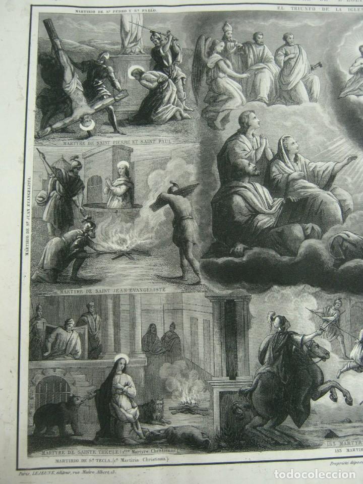 Arte: S.XIX - Martirologo grabado de Santos Martires y martirios - Foto 2 - 128484007