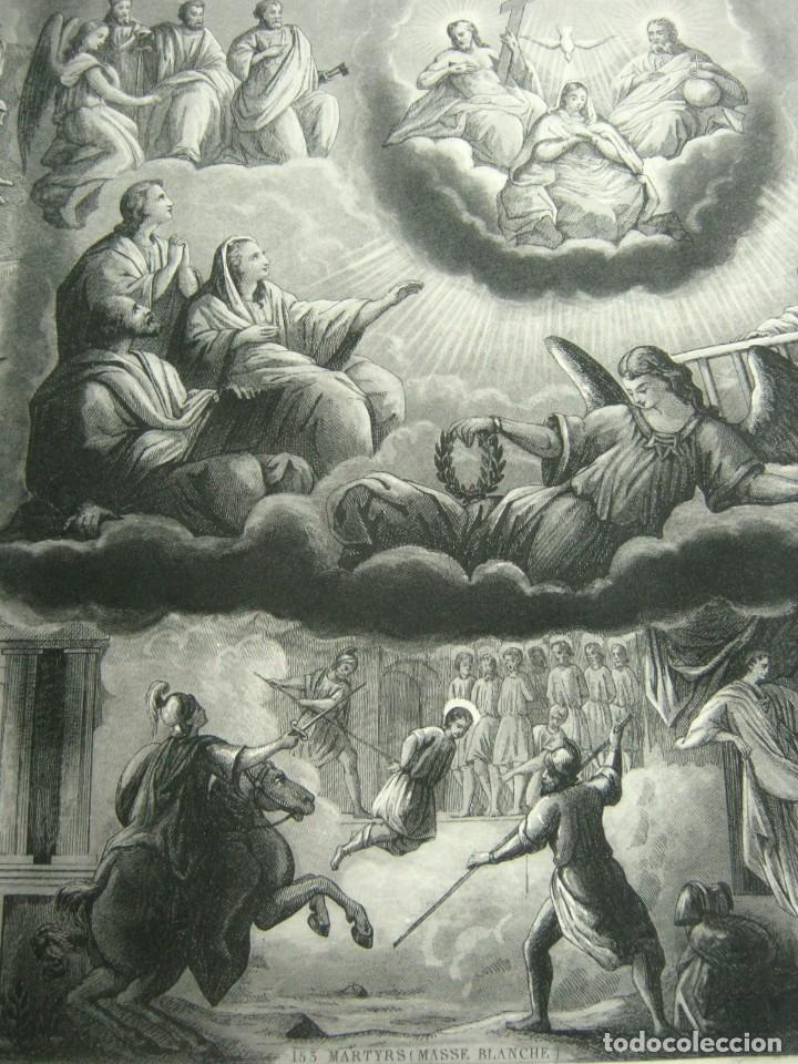 Arte: S.XIX - Martirologo grabado de Santos Martires y martirios - Foto 3 - 128484007