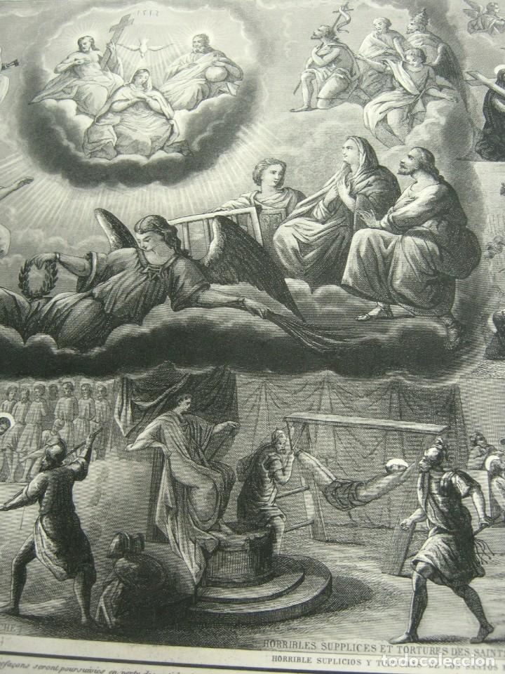 Arte: S.XIX - Martirologo grabado de Santos Martires y martirios - Foto 4 - 128484007
