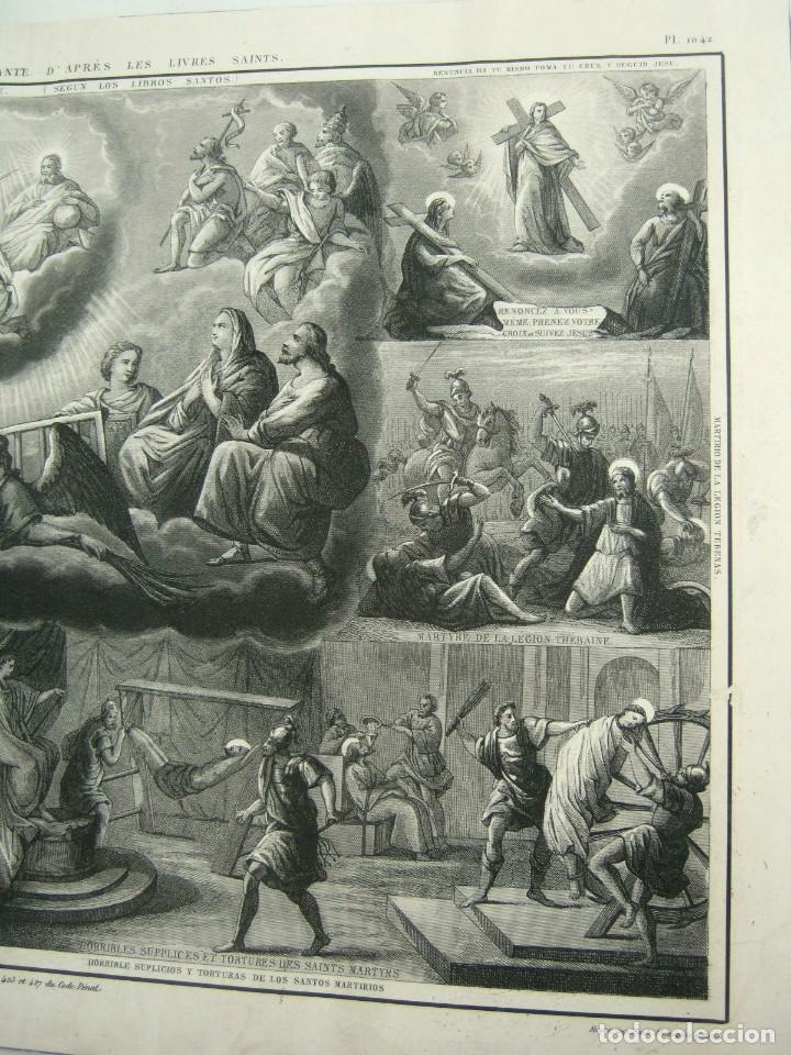 Arte: S.XIX - Martirologo grabado de Santos Martires y martirios - Foto 5 - 128484007