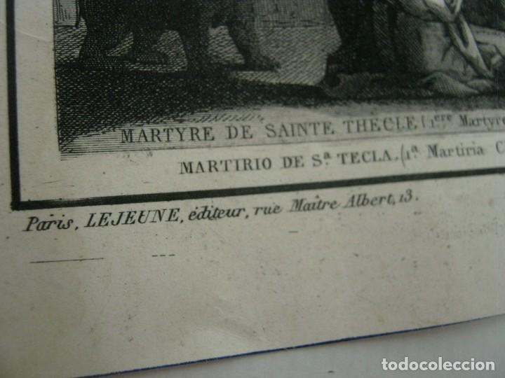 Arte: S.XIX - Martirologo grabado de Santos Martires y martirios - Foto 6 - 128484007