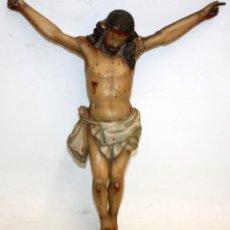 Arte: LINDO CRISTO DE MADERA ISABELINO. CIRCA 1850. Lote 128522515