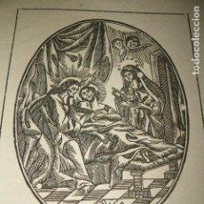 Arte: TRANSITO DE SAN JOSE ANTIGUA ESTAMPA GRABADO HACIA 1800 .10 X 13 CMTS. Lote 128558067