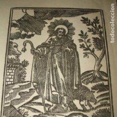 Arte: SAN ANTONIO ABAD ANTIGUA ESTAMPA GRABADO HACIA 1800 .10 X 13 CMTS. Lote 128558259