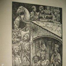 Arte: ADORACION DE LOS MAGOS ANTIGUA LITOGRAFIA 17,5 X 25 CMTS. Lote 128560771