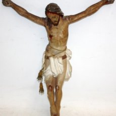 Arte: INTERESANTE CRISTO DE MADERA. MUY BUENA FACTURA. Lote 128565099