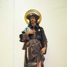 Arte: FIGURA RELIGIOSA OLOT SAN ROQUE Y PERRO. Lote 128611151