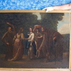 Arte: VISITACION GRAN FORMATO OLEO PINTURA ANTIGUA FINALES DEL XVII. Lote 128632803