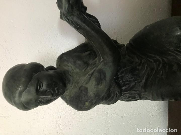 Arte: MUCHACHA PORTADORA, TERRACOTA PATINADA AÑOS 50 - Foto 2 - 155974386