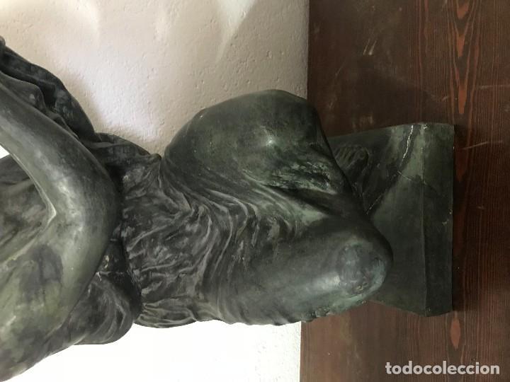 Arte: MUCHACHA PORTADORA, TERRACOTA PATINADA AÑOS 50 - Foto 4 - 155974386