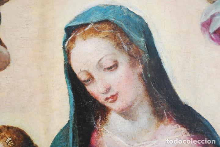 Arte: ESPECTACULAR PINTURA ÓLEO SOBRE TABLA SIGLO XVI - Foto 2 - 128662335