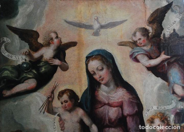 Arte: ESPECTACULAR PINTURA ÓLEO SOBRE TABLA SIGLO XVI - Foto 3 - 128662335