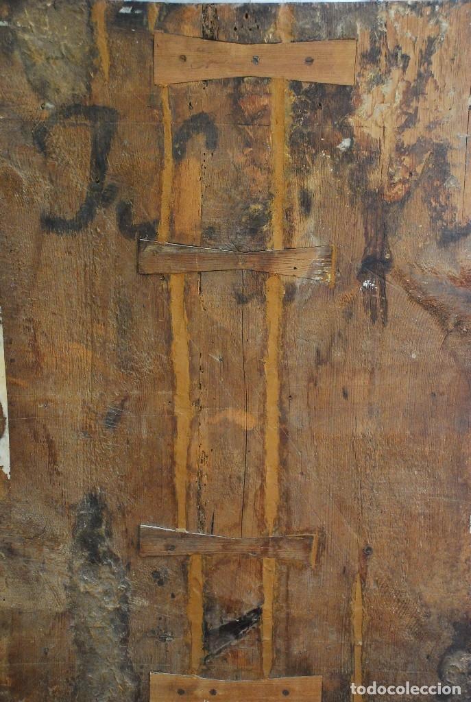 Arte: ESPECTACULAR PINTURA ÓLEO SOBRE TABLA SIGLO XVI - Foto 12 - 128662335
