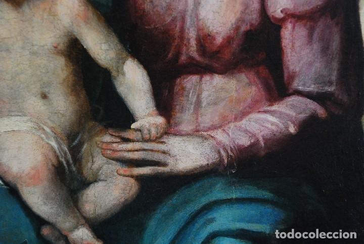 Arte: ESPECTACULAR PINTURA ÓLEO SOBRE TABLA SIGLO XVI - Foto 13 - 128662335