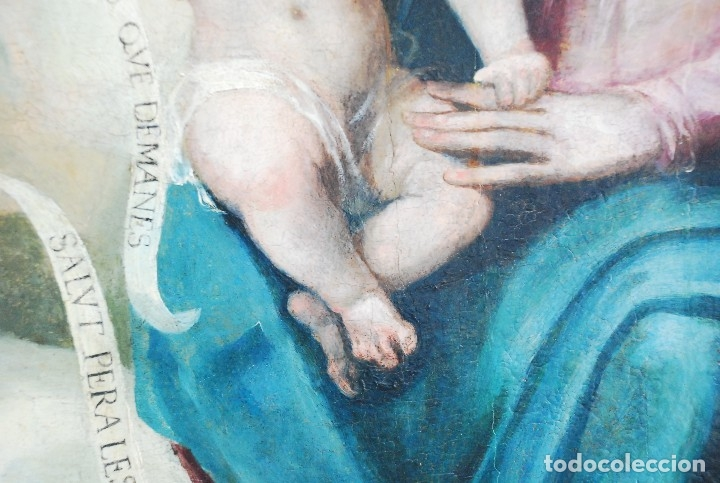 Arte: ESPECTACULAR PINTURA ÓLEO SOBRE TABLA SIGLO XVI - Foto 15 - 128662335