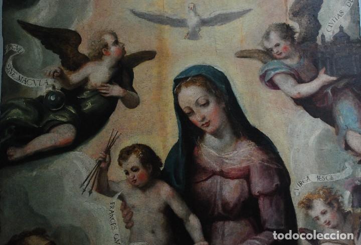 Arte: ESPECTACULAR PINTURA ÓLEO SOBRE TABLA SIGLO XVI - Foto 22 - 128662335
