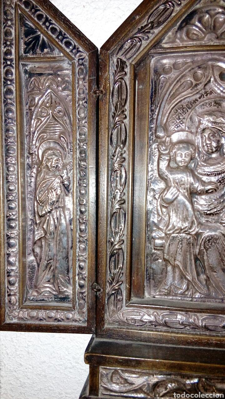 Arte: Tríptico en plata de ley y madera de nogal - Foto 4 - 128664926