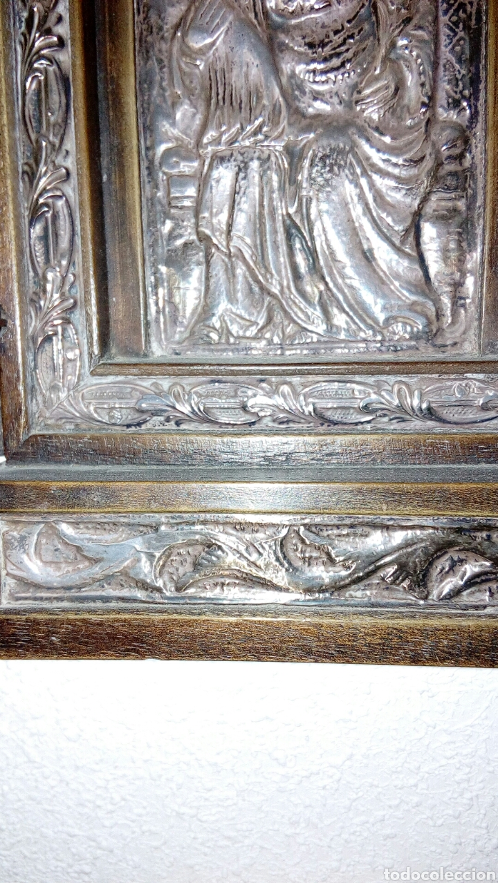 Arte: Tríptico en plata de ley y madera de nogal - Foto 5 - 128664926