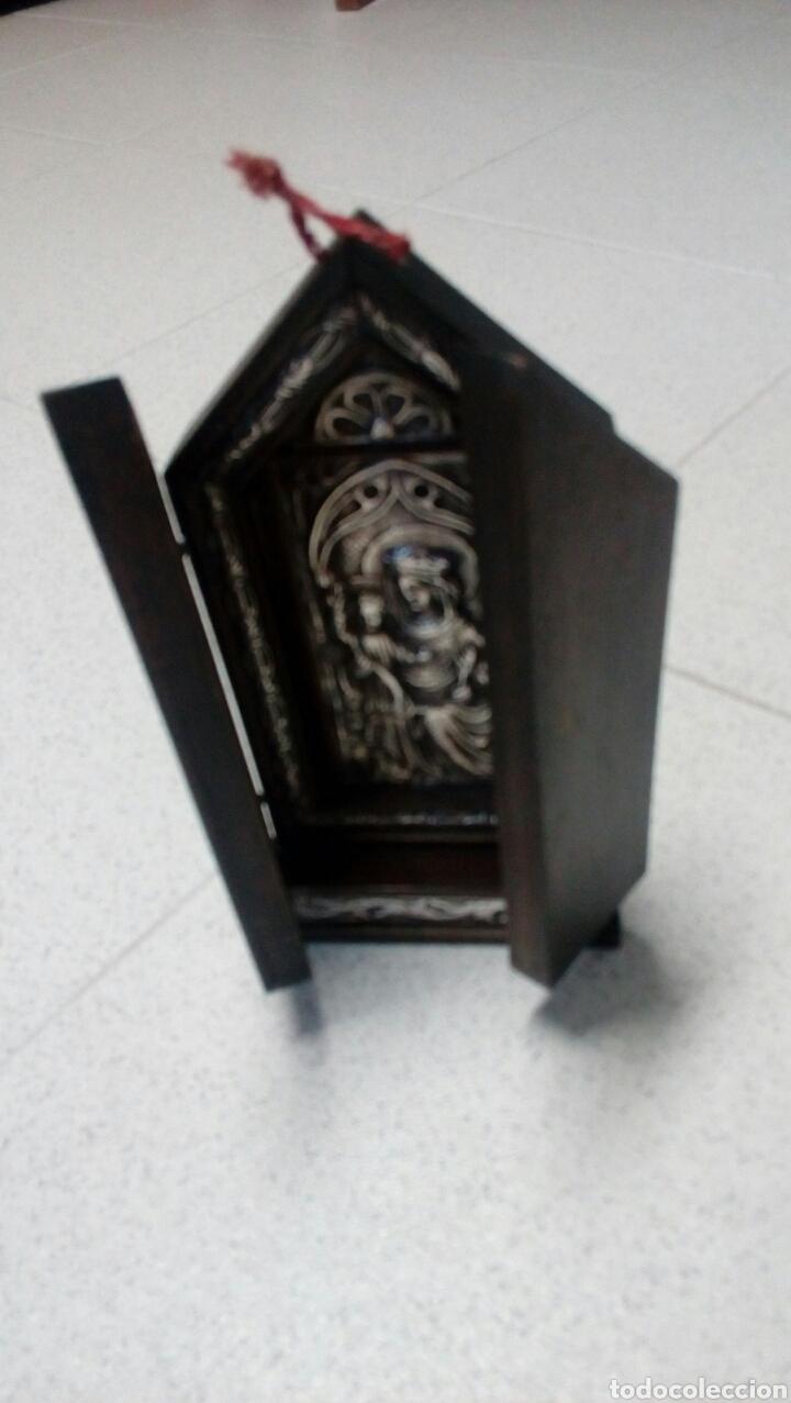 Arte: Tríptico en plata de ley y madera de nogal - Foto 7 - 128664926