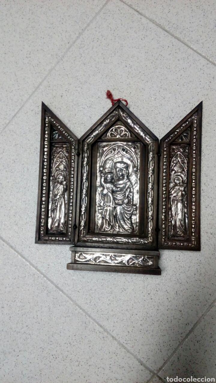 Arte: Tríptico en plata de ley y madera de nogal - Foto 8 - 128664926