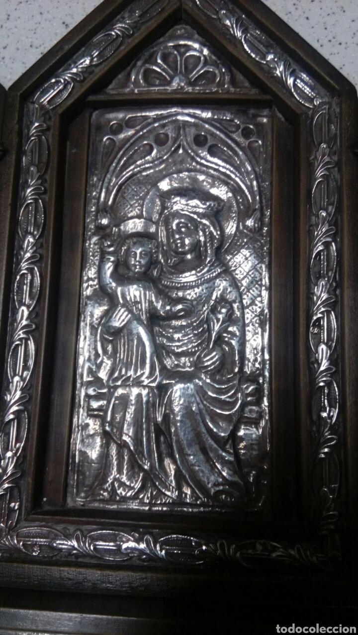 Arte: Tríptico en plata de ley y madera de nogal - Foto 11 - 128664926