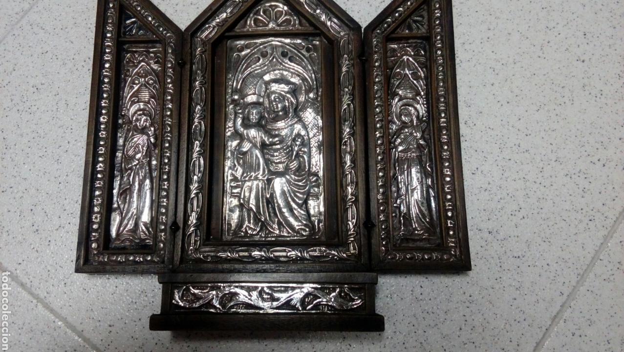 Arte: Tríptico en plata de ley y madera de nogal - Foto 12 - 128664926