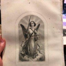 Arte: ANTIGUO GRABADO EL ANGEL DE LA GUARDA - MEDIDA 26X17 CM - RELIGIOSO. Lote 128697747