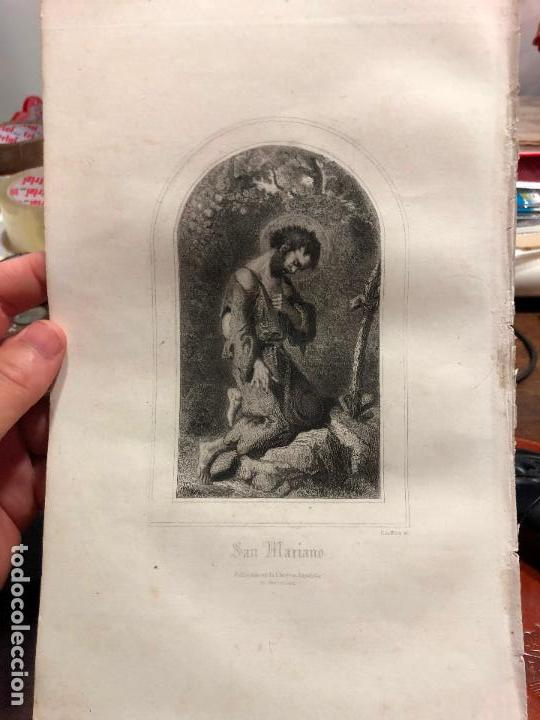 ANTIGUO GRABADO SAN MARIANO - MEDIDA 26X17 CM - RELIGIOSO (Arte - Arte Religioso - Grabados)