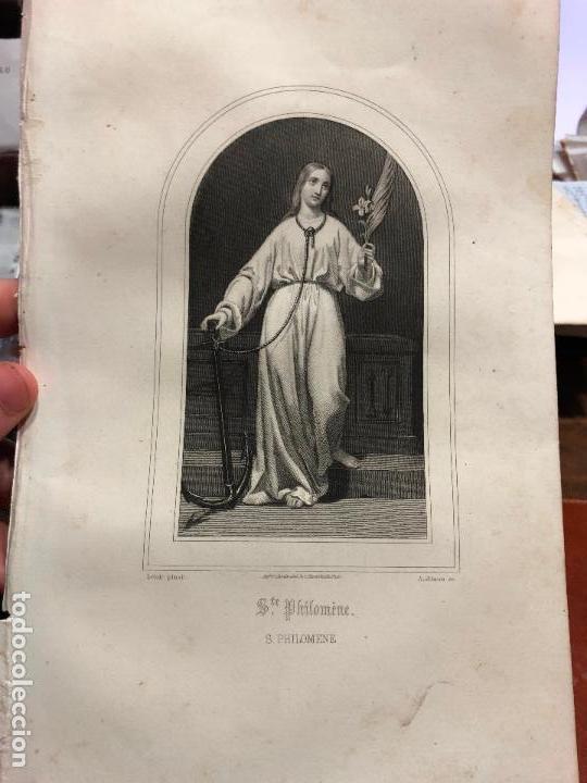 ANTIGUO GRABADO SAN PHILOMENE - MEDIDA 26X17 CM - RELIGIOSO (Arte - Arte Religioso - Grabados)