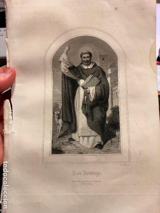 ANTIGUO GRABADO SAN DOMINGO - MEDIDA 26X17 CM - RELIGIOSO (Arte - Arte Religioso - Grabados)