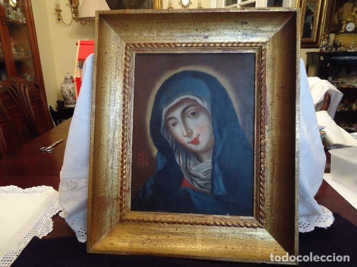 PINTURA ANTIGUA DE VIRGEN (Arte - Arte Religioso - Pintura Religiosa - Oleo)