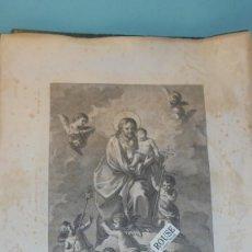 Arte: VALENCIA - EL PATRIARCA SAN JOSEPH ANTIGUO GRABADO S. XIX - L. PLANAS MENOR LO DIBUJO . Lote 128863227