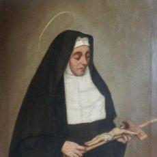 Arte: BENITO BENET MERCADE FÁBREGAS (1821-1897) SANTA RITA DE CASIA ÓLEO SOBRE TELA OIL ON CANVAS. Lote 128884035
