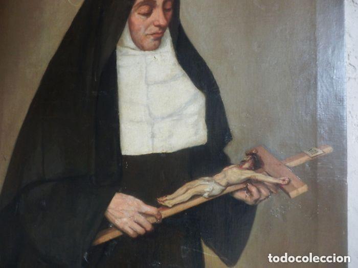 Arte: Benito Benet Mercade Fábrega (1821-1897) - Santa Rita de Casia - Óleo sobre tela - Foto 4 - 128884035