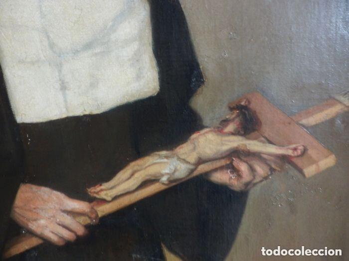Arte: Benito Benet Mercade Fábrega (1821-1897) - Santa Rita de Casia - Óleo sobre tela - Foto 6 - 128884035