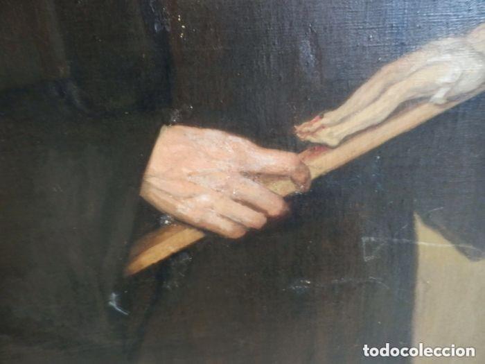 Arte: Benito Benet Mercade Fábrega (1821-1897) - Santa Rita de Casia - Óleo sobre tela - Foto 7 - 128884035