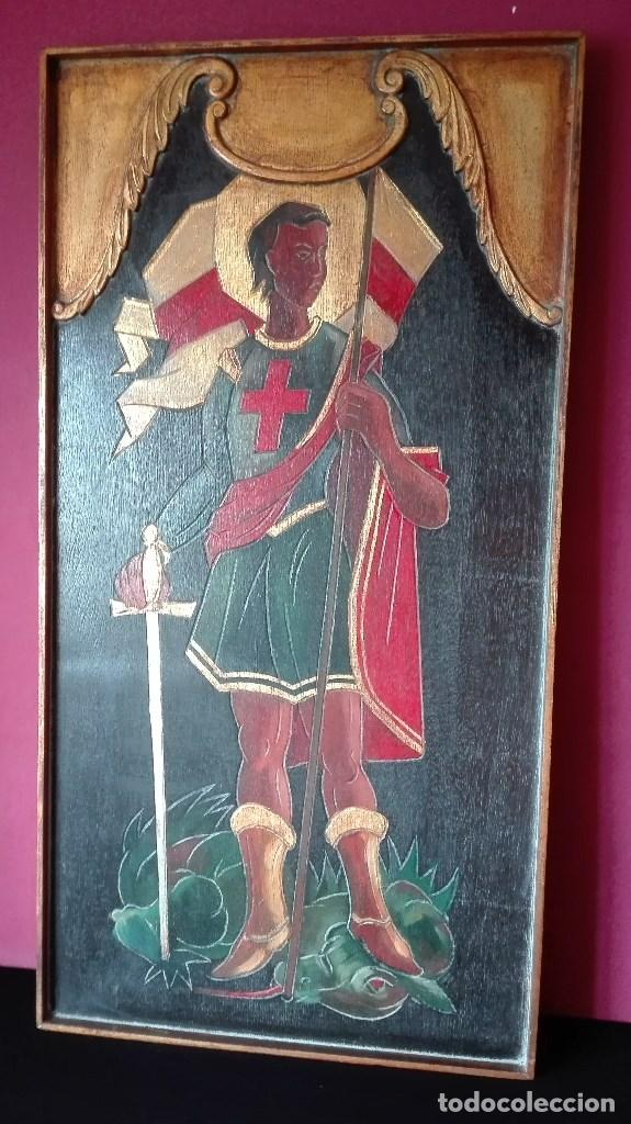 ANTIGUO CUADRO SAN JORGE (Arte - Arte Religioso - Pintura Religiosa - Otros)