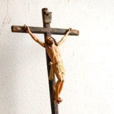 Arte: CRISTO EN MADERA POLICROMADA.. Lote 128958107