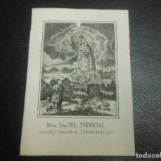 Arte: SIGLO XIX GRABADO VIRGEN NUESTRA SEÑORA DEL TREMEDAL DE ORIHUEGA DE ARAGON TERUEL - LIT.. Lote 128969867