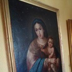Arte: VIRGEN DE ROSARIO CON NIÑO, SIGLO XVIII.. Lote 129006199