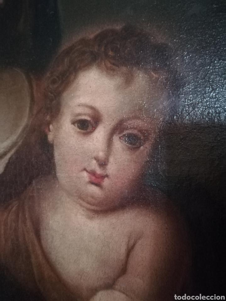 Arte: Virgen de Rosario con niño, siglo XVIII. - Foto 2 - 129006199