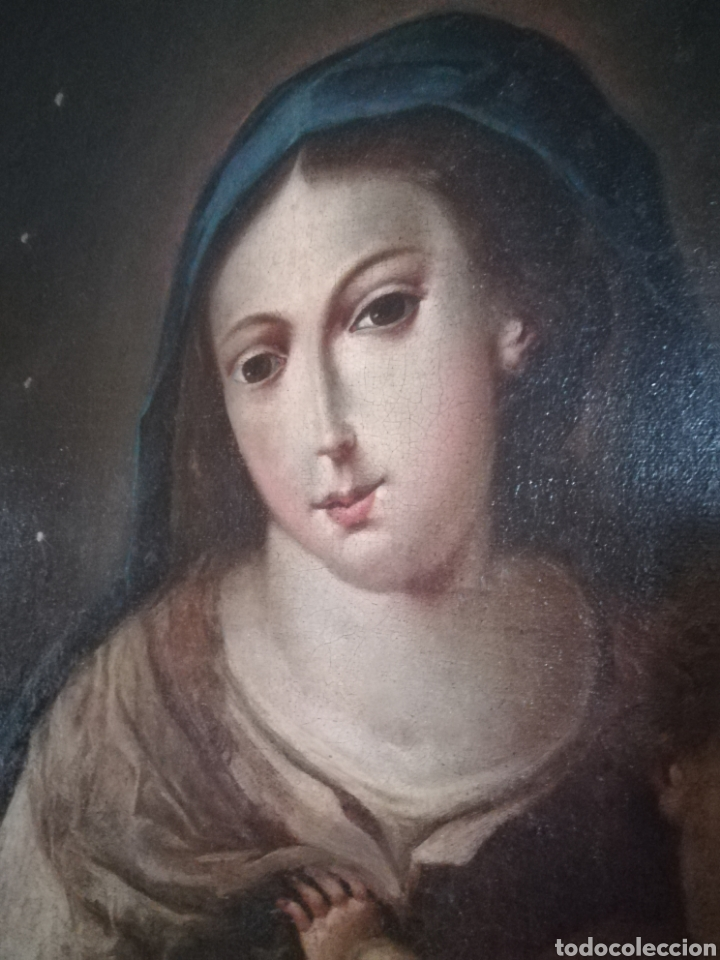 Arte: Virgen de Rosario con niño, siglo XVIII. - Foto 4 - 129006199