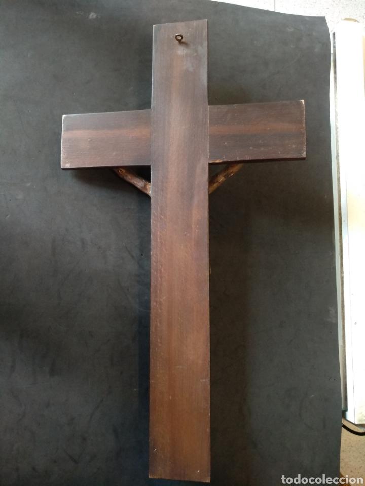 Arte: Bonito Cristo tallado de madera policromado - Foto 3 - 129162651