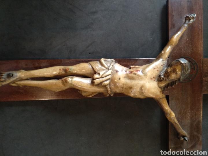 Arte: Bonito Cristo tallado de madera policromado - Foto 5 - 129162651