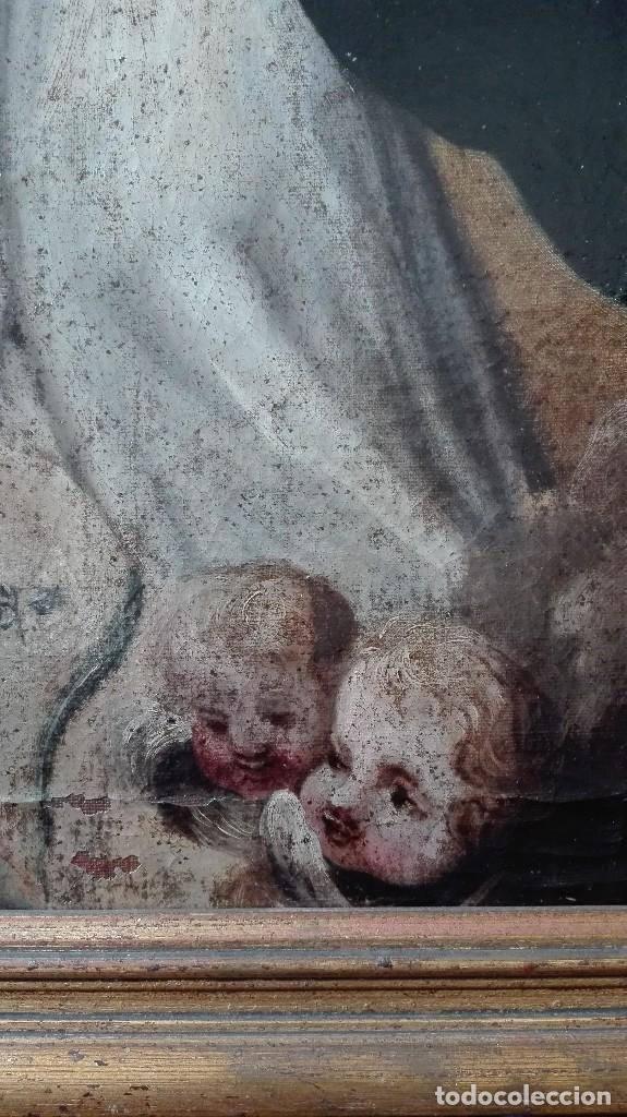 Arte: Virgen Inmaculada s:XVII/XVIII,oleo sobre lienzo. - Foto 3 - 129308915
