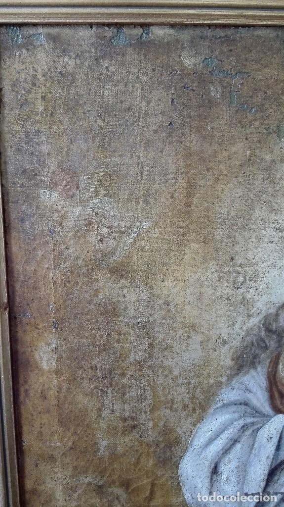 Arte: Virgen Inmaculada s:XVII/XVIII,oleo sobre lienzo. - Foto 5 - 129308915