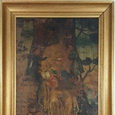 Arte: VIRGEN CON NIÑO. ÓLEO SOBRE LIENZO. ESCUELA COLONIAL. SIGLO XVIII-XIX. . Lote 129416387