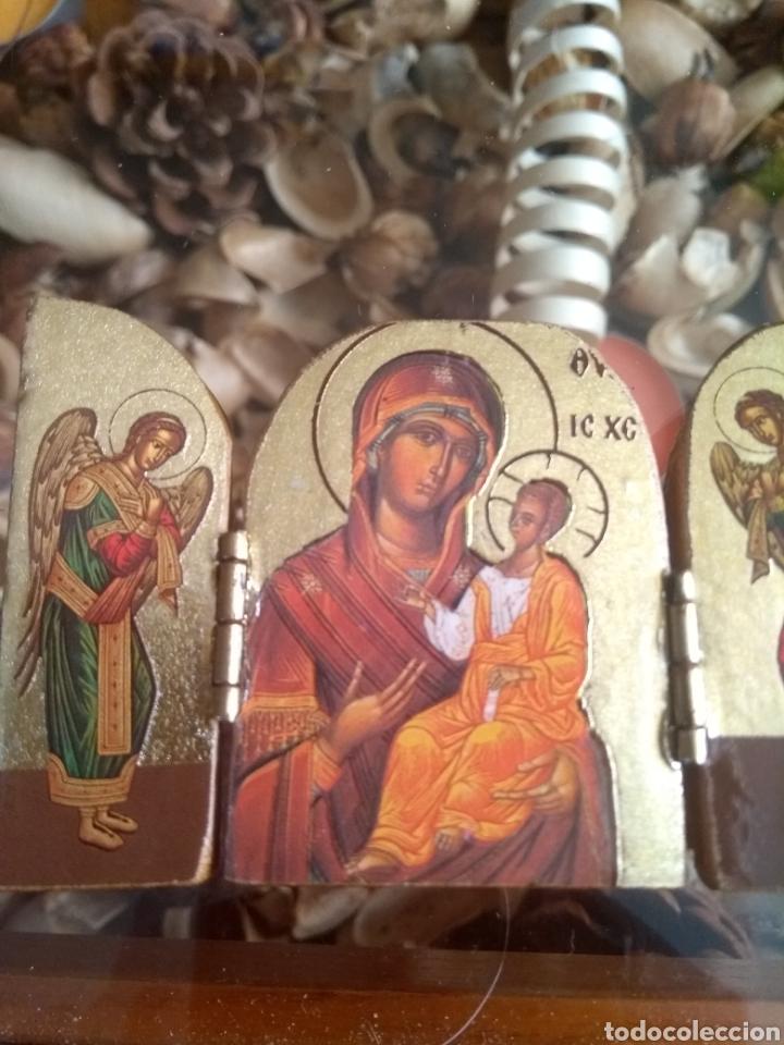 Arte: Bonito tríptico de madera tallada - Foto 3 - 129428556