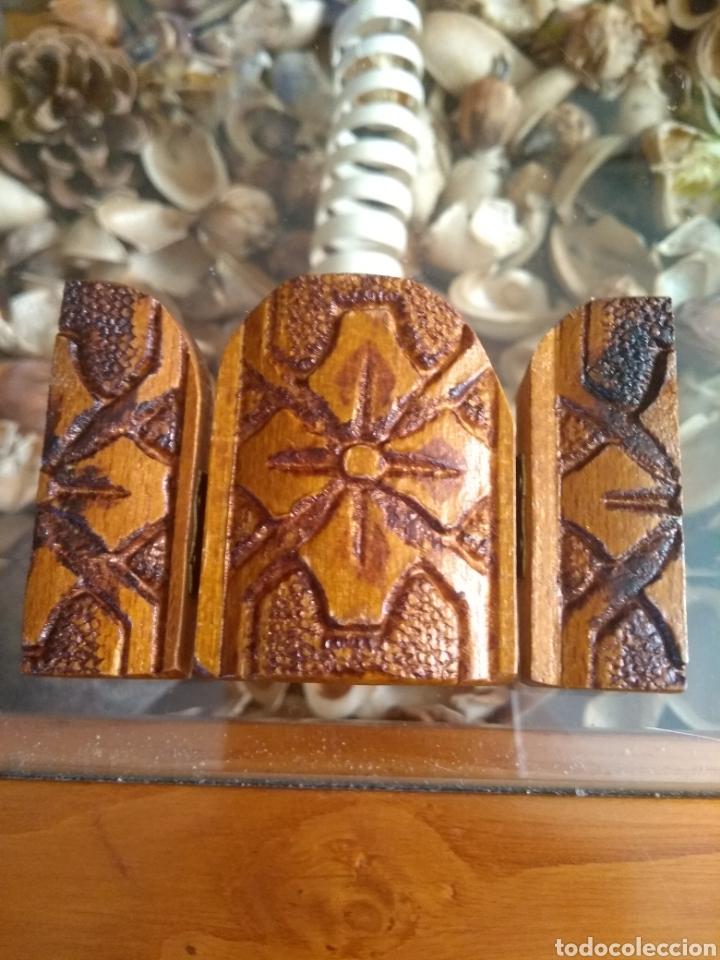 Arte: Bonito tríptico de madera tallada - Foto 4 - 129428556